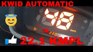 Renault Kwid AMT 22.2 KMPL IN City-POV-Real Time Mileage Check
