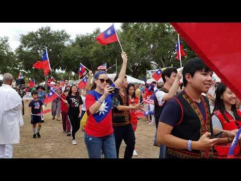 Florida Hmong 2018 at St Petersburg International Folk Fair Society Parade
