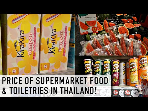 PRICES OF SUPERMARKET FOOD AND TOILETRIES IN THAILAND