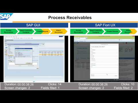 Experience Transformation with SAP Fiori UX – Process Receivables