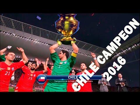 Pes 2016 Chile Campeon Copa Centenario USA 2016 Relatos de Claudio Palma