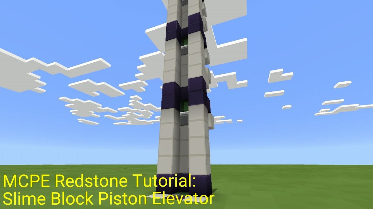 Minecraft Pocket Edition Redstone Tutorial Slime Block