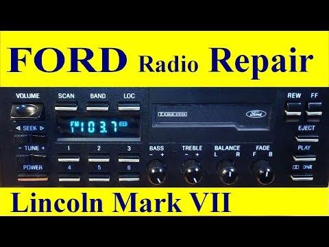 Vintage 1988 Lincoln Mark VII Radio E9LF-19B165-AB Repair