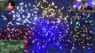 Светодиодная нить 10 м , 100  диодов   PST100BL 11 2(Подробный обзор новогодних электрических ламповых гирлянд с насадками. Основная область применения -..., 2013-10-18T14:19:03.000Z)