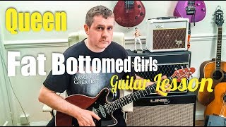 Queen - Fat Bottomed Girls - Guitar Tutorial (Guitar Tab) Brian May Guitarist Lesson