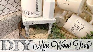 DIY Mini Wood Tray