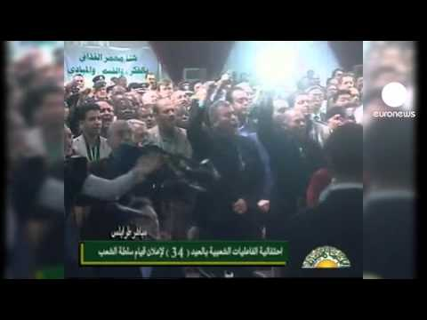 Libya leader appears on national television