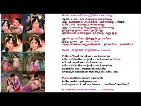 Naanamo.. Karaoke with Lyrics for Male Singers by HamsaPriya (3- 1 - 2017)