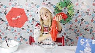 Frosty Snow Paint - Santa SLIME - Holiday Wreath DIYs