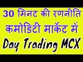 Day Trading MCX / Commodity Market Starting 30 Minute Strategy.
