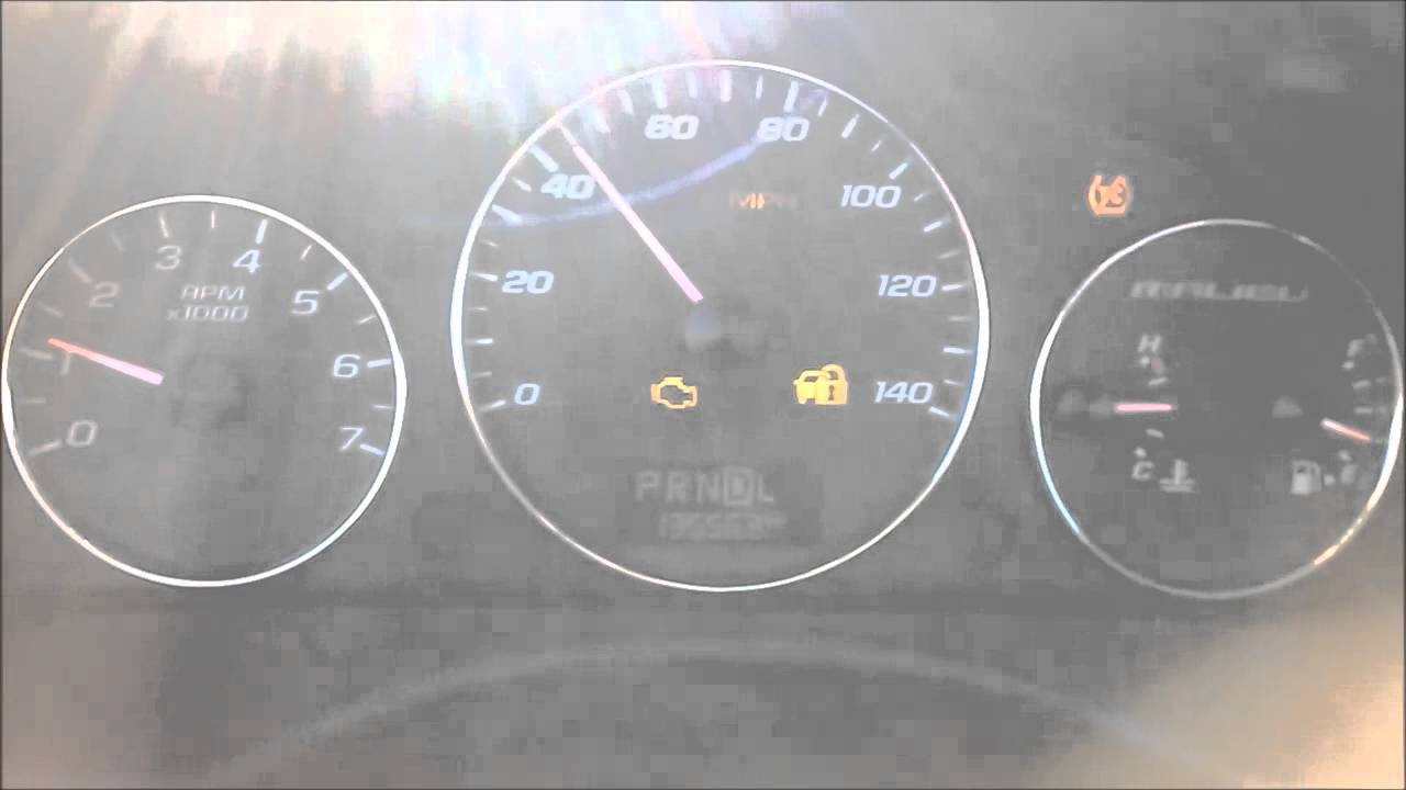 2009 chevy trailblazer dash warning lights