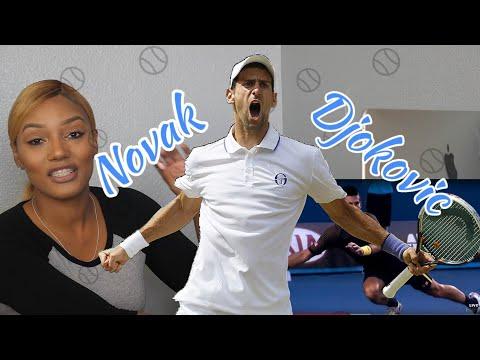 Clueless New tennis  Fan Reacts to Novak Djokovic Tennis Highlights