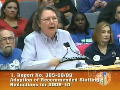 Jackie Goldberg: LAUSD Don't dismantle Public Education