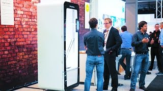 Their Delta 3D printer would make a classy fridge! Kühling & Kühling at FabCon3D/Rapidtech(, 2016-06-19T20:51:21.000Z)