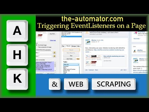 Web Scraping with AutoHotkey 109a- Triggering an EventListener on a page