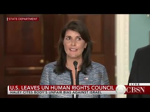 US Announces Its Withdrawal Fr un human rights council