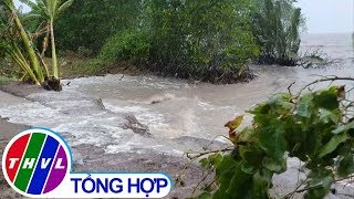 THVL | Sóng biển tràn qua đê ở Kiên Giang, cuốn trôi tài sản của dân