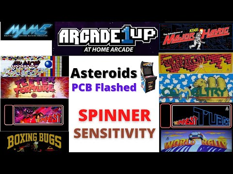 Arcade1UP - Asteroids Flashed PCB - Spinner Sensitivity Settings from Scott Farrar