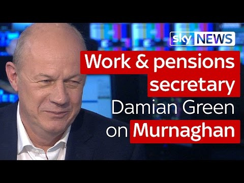 Work and pensions secretary Damian Green on Murnaghan
