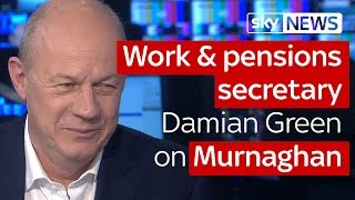 Work and pensions secretary Damian Green on Murnaghan