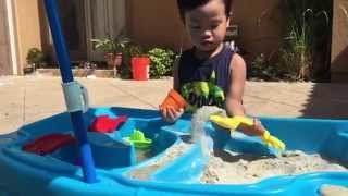 Fun In The Sun With The Step2 Cascading Cove Sand & Water Table