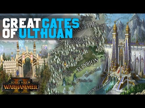 HIgh Elf Great Gates of Ulthuan - Lore & Mechanics (Eagle Gate)   Total War: Warhammer 2