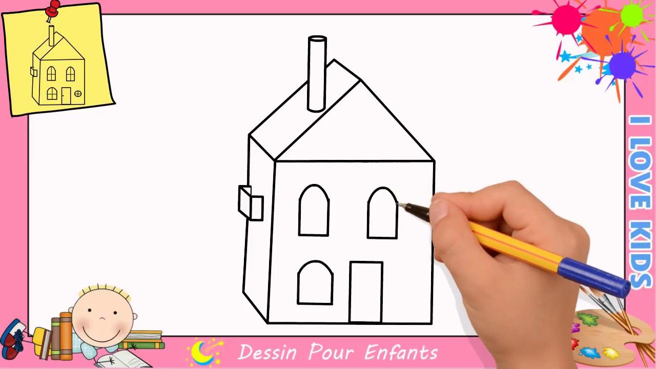 Comment dessiner une maison facilement etape par etape pour enfants 4