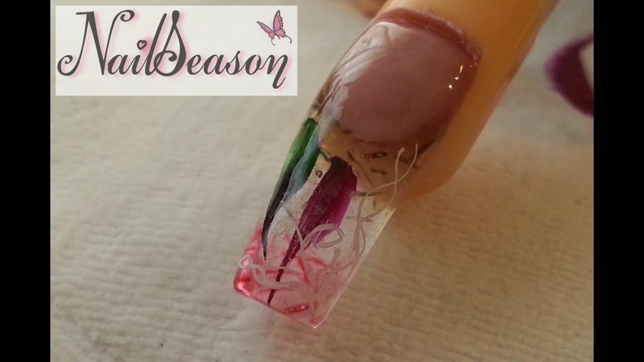 Decoracion de uñas con gota de arte. como hacer uñas ...