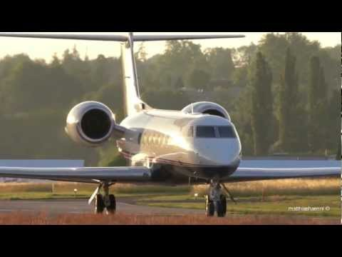 Taiwanese Gulfstream G550 Take Off at Airport Bern-Belp