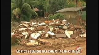 Chuvas causam tragédias em Minas Gerais