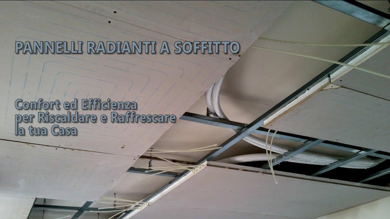 Il soffitto radiante riscaldamento e raffrescamento efficienti