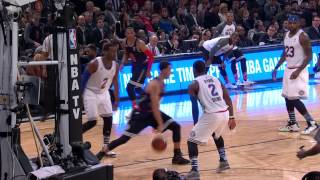 Stephen curry finds james harden with two sweet assists for some amazing dunksabout the nba: nba is premier professional basketball league in uni...