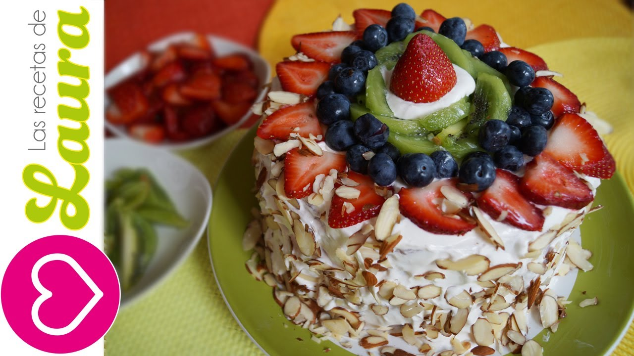 Pastel de frutas Las Recetas de Laura Postres sin azucar