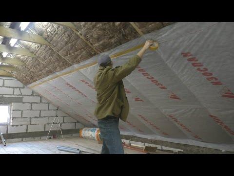 Мастерская от фундамента до крыши - Часть 11 ( Свет Утеплитель Пароизоляция)