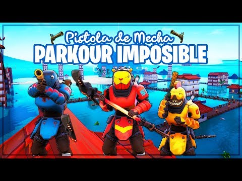 PARKOUR IMPOSIBLE 99,99% CON *PISTOLA DE MECHA* (MINIJUEGO FORTNITE)