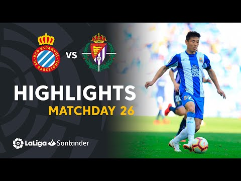 Highlights RCD Espanyol vs Real Valladolid (3-1)