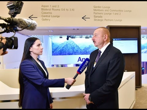 """Prezident İlham Əliyevin Davosda """"Rossiya 1"""" televiziya kanalına müsahibəsi"""