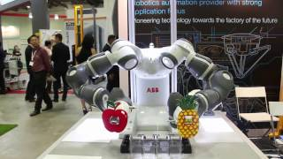 Gambar cover ABB's YuMi grooving at the Singapore International Robo Expo 2016