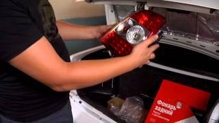 видео замена заднего бампера приора седан