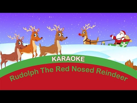 RUDOLPH the RED NOSED REINDEER KARAOKE | Sing-a-long. Christmas Songs.