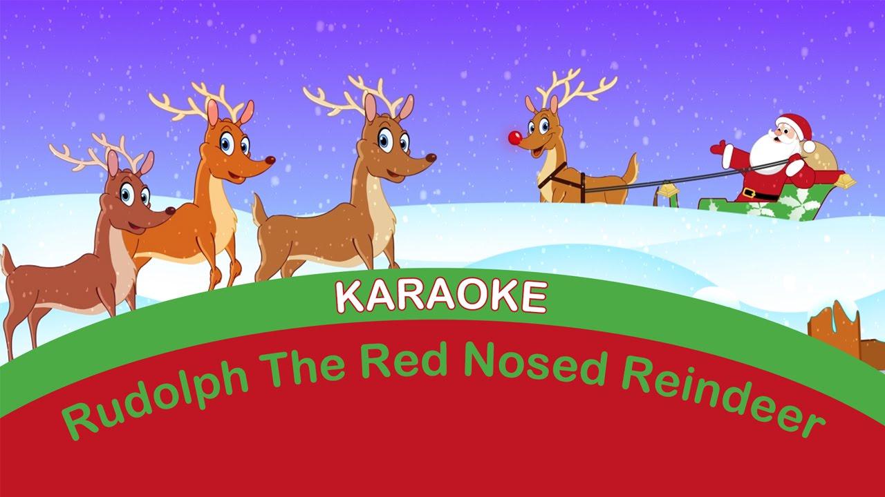 RUDOLPH the RED NOSED REINDEER KARAOKE | Sing-a-long. Christmas ...