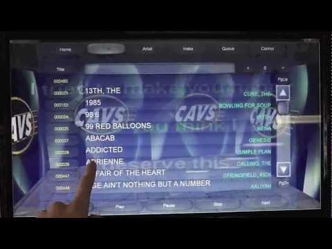 CAVS 3D Customer Interface! Touch Screen Karaoke