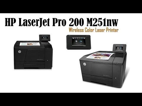 cheapest color laser printer to operate hp laserjet pro 200 m251nw color laser printer youtube. Black Bedroom Furniture Sets. Home Design Ideas