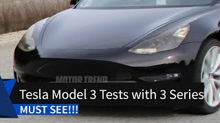 MUST SEE! Near Production Tesla Model 3 Tests with 3 Series