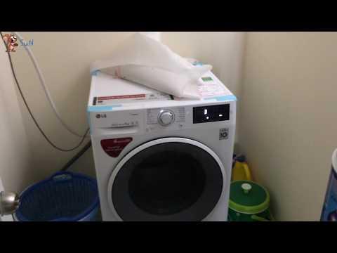 Soc - (Review) Thử độ ồn/rung lắc Máy giặt LG inverter 8 kg FC1408S4W2