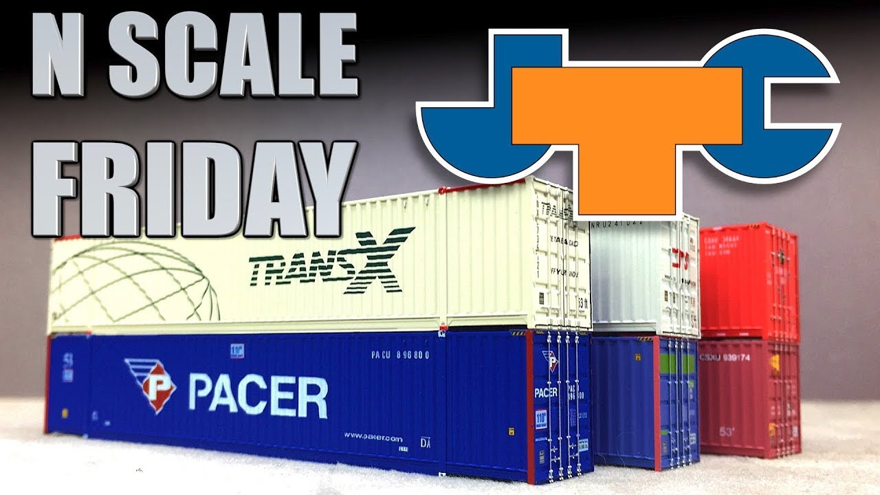 N Scale Friday JTC Intermodal Containers for Stack Trains Jacksonville  Terminal Company JTC