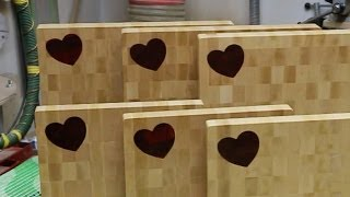 """Making A """"heart"""" Inlaid End Grain Cutting Board"""