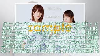 欅坂46、小林由依さん&土生瑞穂さんの撮り下ろしポスター掲出&別冊TOW...