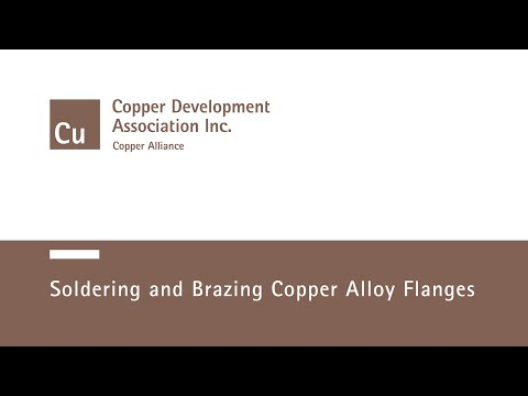 Soldering and Brazing Copper Alloy Flanges