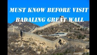 Badaling Great Wall self-guide tip: How to reach from Beijing? how to avoid the crowd?